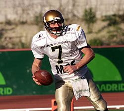 QB Dino Bucciol against Madrid (c) www.as.com