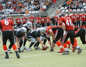 L´Hospitalet Pioners facing the Badalona Dracs in the spanish Final 2005 (c) L´Hospitalet Pioners